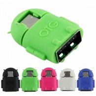 Адаптер OTG USB(гнездо) - microUSB в виде Андроида