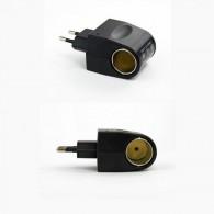 Адаптер 220V->12V гнездо прикуривателя без провода (500mAh)