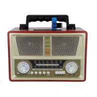 Радиоприемник MD-1802BT (Bluetooth/USB /SD/microSD/FM/акб/4*R20) сер Kemai