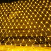 Гирлянда - сетка 320 LED тепл. белый, 3х2м прозр. шнур