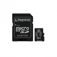Карта памяти microSDHC Kingston 64Gb Class10 CanvasSelect Plus A1 с адапт