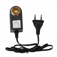 Адаптер 220V->12V гнездо прикуривателя с проводом (500mAh)