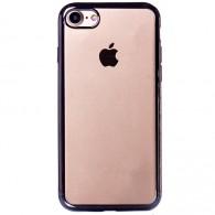 Чехол для iPhone 7\8 силиконовый ультратонкий серебро
