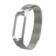 Ремешок для фитнес-браслета Mi3 металл серебро (тонкое плетение)