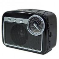 Радиоприемник HN-285 (Fm/USB/microSD/акб/фонарь/PowerBank) черный Haoning