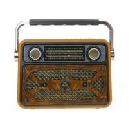 Радиоприемник М-183ВТ (Bluetooth/USB/microSD/Fm/AUX/акб) корич Meier