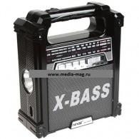 Радиоприемник NS-1369TTch (USB\microSD\Fm\фонарь) черный