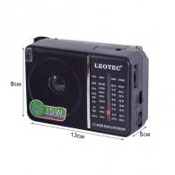 Радиоприемник LT-606B чер Leotec (2*R20 либо з\у 3V приобретается отдельно)