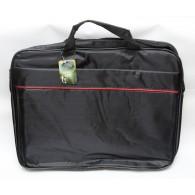 Сумка для ноутбука мужская черная 39х31х6см 1 отделение