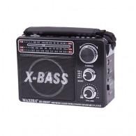 Радиоприемник XB-206 (USB/SD/FM/АКБ/фонарь/2*R20) черный Waxiba