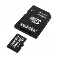 Карта памяти microSDHC SmartBuy 256Gb Class 10 UHS-l с адаптером (SDXC)