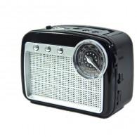 Радиоприемник HN-288 (Fm/USB/microSD/акб/фонарь/PowerBank) черный Haoning