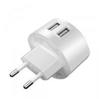 Адаптер 220V->2*USB 2.4A HOCO (C67A)