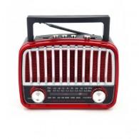 Радиоприемник HN-290UAT (Fm/USB/microSD/акб/фонарь/PowerBank) красный Haoning