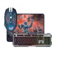 Комплект Defender Killing Storm (клавиатура+мышь+коврик) игровой проводной