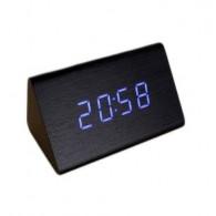 Часы настольные VST-864-5 син.цифры, чер.корпус (дата, темп., будильник,4*ААА)