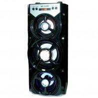 Колонка портативная MS-220BT (Bluetooth/USB /SD/FM/дисплей) черная