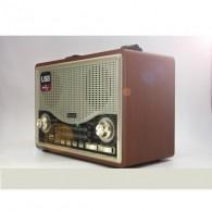 Радиоприемник MD-1706BTch (USB /SD/FM/дисплей/пульт) коричневый