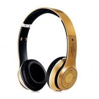 Наушники-плеер S460 золото (Fm, microSD,Bluetooth)