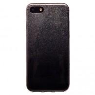 Чехол для iPhone 6 силиконовый черно-серебр Glamour