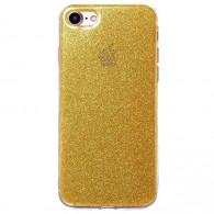 Чехол для iPhone 7\8 силиконовый золотистый Glamour