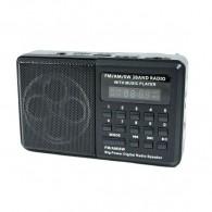 Радиоприемник HN-S182LED (USB/microSD/акб 18650) черный Haoning