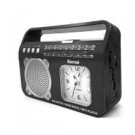 Радиоприемник MD- 501 (FM/BT/USB/220V/18650/часы) черный Kemai