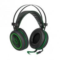 Наушники Defender G-530D игровые с микрофоном (64531), черный+зеленый