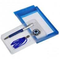 """Подарочный набор (ручка+подвеска """"Кошачий глаз"""") (1456461)"""
