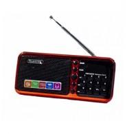 Радиоприемник HN-S362LED (USB/microSD/акб BL-5C) красный Haoning