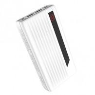Внешний аккумулятор 20000mAh Hoco J27A Дисплей, 2*USB, фонарь белый (102163)