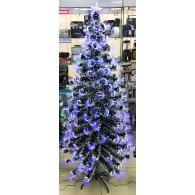 Елка 1,5м светодиодная (синие кисточки., со снегом)
