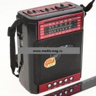 Радиоприемник PX-51URch (USB+SD+фонарь) черный