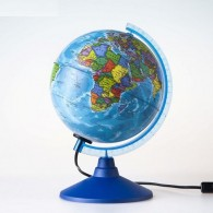 Глобус с подсветкой 15см физико-полит карта (1072899)