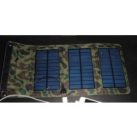 Солнечная панель - З/у - 7w 5,5v 1,2A (USB AF разьем) (произ-во Россия)