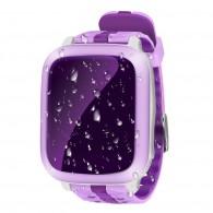 Smart-часы DS18 Hello детские с GPS трекером сиренев. влагозащ, противоуд