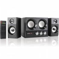 Колонки Crown 2.1 CMBS-161 (8+2*4Вт, Bluetooth, Fm, USB, SD, пульт) черные