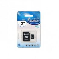 Карта памяти microSD SmartBuy 2Gb с адаптером