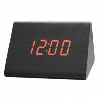 Часы настольные VST-864-1 крас.цифры, чер.корпус (дата,темп.,будильник,4*ААА)