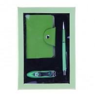 Подарочный набор (ручка+визитница+кусачки) (1124085)