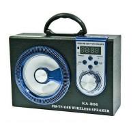 Колонка портативная KA-B06 (USB\SD\bluetooth) черная