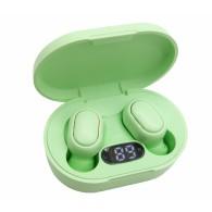 Гарнитура Bluetooth Air-E7S зеленая (вакуумные наушники)