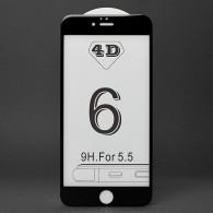 Защитное стекло 3D для iPhone 6 Plus черное
