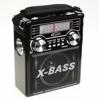 Радиоприемник XB-1053URT\ch (USB/SD/FM/фонарь) черный
