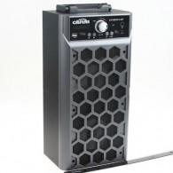 Колонка портативная CN-S2014FM-BT (USB /SD/FM/дисплей/пульт) серая