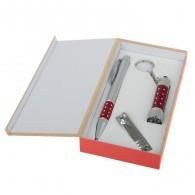Подарочный набор (ручка+кусачки+фонарик) (555529)