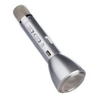 Микрофон со встр.колонкой для караоке (Bluetooth) К098 серебро