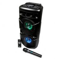 Колонка портативная 2*6.5 (АО-20) (Bluetooth/USB /FM/ беспр.микрофон/пульт)