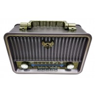 Радиоприемник MD-1709BTch (Bluetooth/USB /SD/microSD/FM/акб/4*R20) чер Kemai