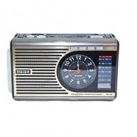 Радиоприемник М-U41 (Fm/microSD/AUX/акб/2*R20/часы/фонарь) белый Meier